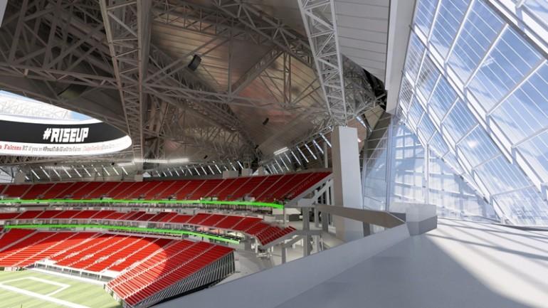نگاهی به استادیوم آتلانتا فالکونز با سقف بازشو 8 تیکه - آی تی راداراستادیوم آتلانتا با سقف بازشو استادیوم آتلانتا با سقف بازشو