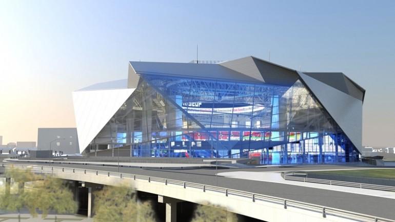 نگاهی به استادیوم آتلانتا فالکونز با سقف بازشو 8 تیکه - آی تی راداراستادیوم آتلانتا با سقف بازشو ...