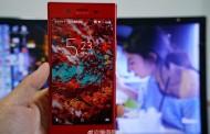 درز تصویری از مدل قرمز گوشی سونی اکسپریا ایکس زد پریمیوم